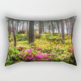 Image USA Azalea Garden Raleigh Nature Parks Rhododendron Trees Shrubs park Bush Rectangular Pillow