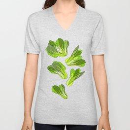 Lettuce Bok Choy Vegetable Unisex V-Neck