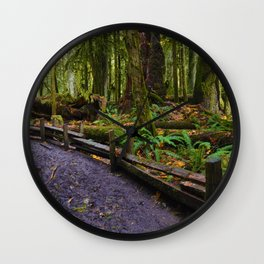 Cathedral Grove, Vancouver Island BC Wall Clock