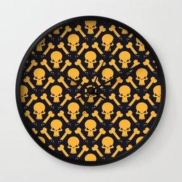 Yellow Skeleton Soldier Pattern Wall Clock