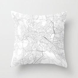Rome, Italy Minimalist Map Throw Pillow