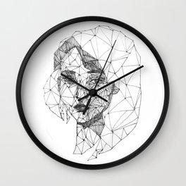 Monochrome Ink-pen Girl Face Wall Clock