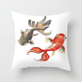 koi-fish Throw Pillow