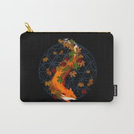 Watercolor Fox Flower Of Life Carry-All Pouch