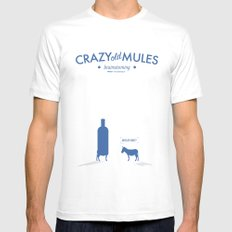 Crazy old Mule / Absolut MEDIUM Mens Fitted Tee White