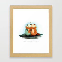 You otter keep warm Framed Art Print