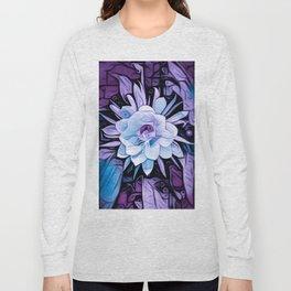 Purple Cereus Flower Long Sleeve T-shirt