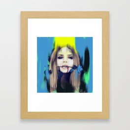 Cold Rose Framed Art Print