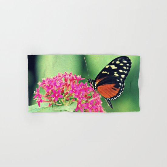 Butterfly & flower retro Hand & Bath Towel