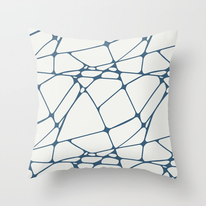 Abstract Mosaic Pattern 1 Pairs to Delicate White PPG1001-1 and Chinese Porcelain PPG1160-6 Throw Pillow