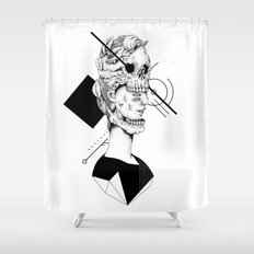 Skull and Woman 02 Shower Curtain