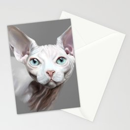 Sphynx cat painting Stationery Cards