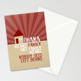 Ohana Means Family - Lilo & Stitch Stationery Cards