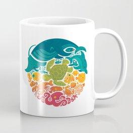 Aquatic Rainbow (white) Coffee Mug