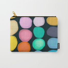 Happy Palette Organic Circles - Black Carry-All Pouch