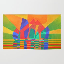 Dreamboat - Cubist Junk In Primary Colors Rug