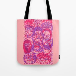 Overlapping Buds Tote Bag