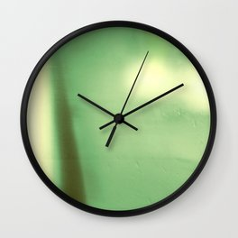 Watery Green Abstract Landscape, Modern Bokeh, Photography Collage, Minimalist Horizon Wall Clock
