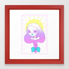 Cabello largo Framed Art Print