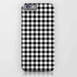 Original Milkweed White and Black Rustic Cowboy Cabin Buffalo Check iPhone Case