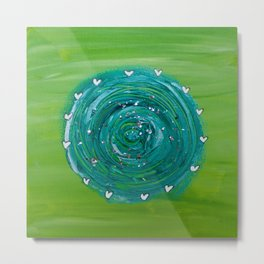 The Flow Painting Series #2: Green and turqouise Metal Print