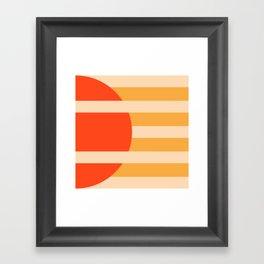 GEOMETRY ORANGE I Framed Art Print