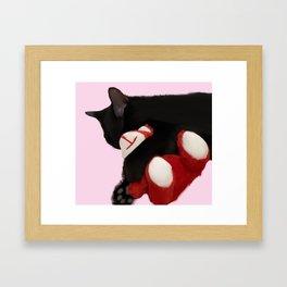 Kitten Hug Framed Art Print