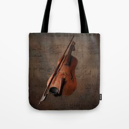 Painting Vintage Violin Tote Bag