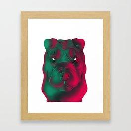 Techno Sharpei Framed Art Print