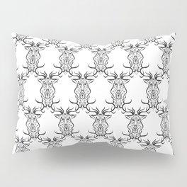 Deer Black and White Pattern Pillow Sham