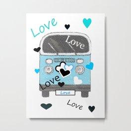 Love Bus Metal Print