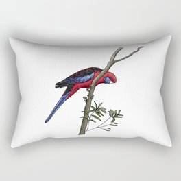 Crimson Rosella Rectangular Pillow