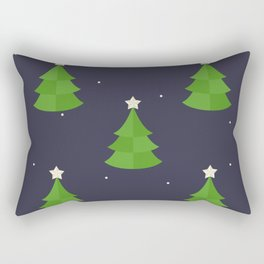 Green Christmas Tree Pattern Rectangular Pillow