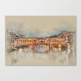 Firenze, Ponte Vecchio Canvas Print
