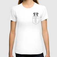 border collie T-shirts featuring Border Collie In Pocket by SpecialTees
