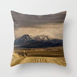 Mountain Road Photograph Throw Pillow