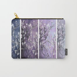 Vincent Van Gogh : Almond Blossoms Panel Art Dark Blue Purple Lavender Carry-All Pouch