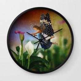 Floating Fairy Wall Clock