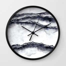 Abstract no.2 in darks Wall Clock