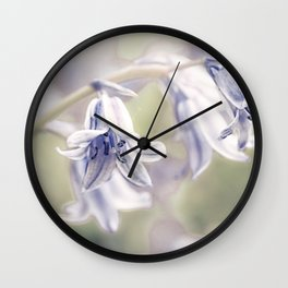 Spanish bluebells Wall Clock