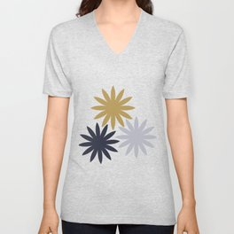 Three Flowers Unisex V-Neck