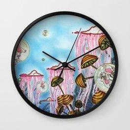 Bubble cats Wall Clock