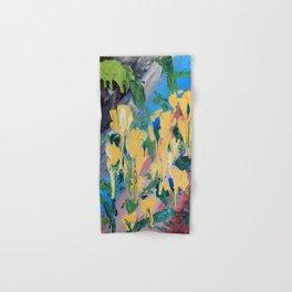 Abstrct Yellow flowers Hand & Bath Towel