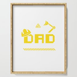 Dad Birthday Crew Construction Worker Theme Party Serving Tray