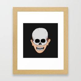 beardy skull Framed Art Print