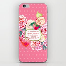Hipster Birds Paisley Floral Prints Pattern GREAT things Text iPhone Skin