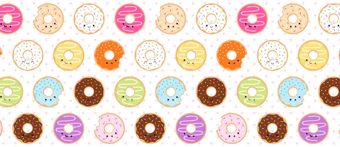 Happy Cute Donuts Pattern Coffee Mug
