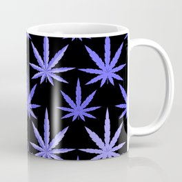 Marijuana Violet Blue Weed Coffee Mug