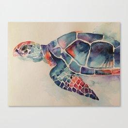Watercolor sea turtle Canvas Print