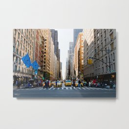 New York Minute Metal Print